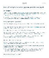 Use of scripts to solve jigsaw puzzles on Jigidi